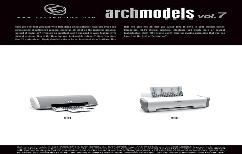 دانلود رایگان آرک مدل ولوم ARCHMODELS VOL.07