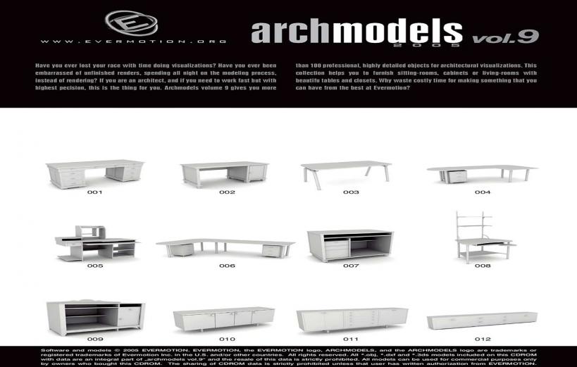 دانلود رایگان آرک مدل ولوم ARCHMODELS VOL.09