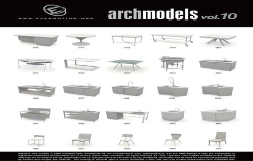 دانلود رایگان آرک مدل ولوم ARCHMODELS VOL.10