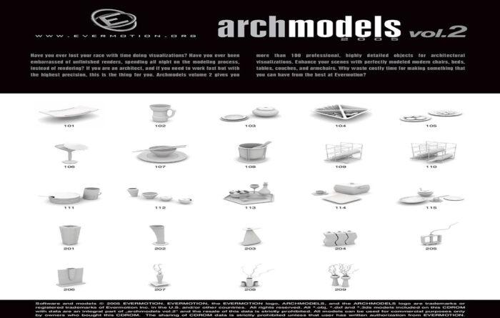 دانلود رایگان آرک مدل ولوم ARCHMODELS VOL.02