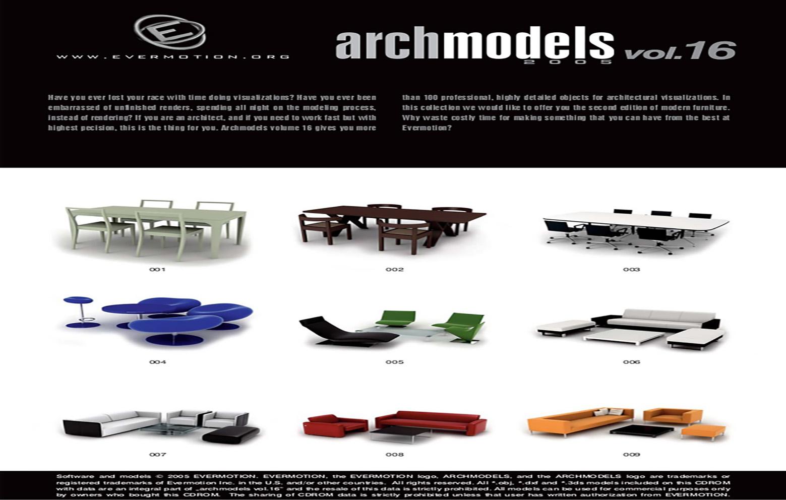 دانلود رایگان آرک مدل ولوم ARCHMODELS VOL.16