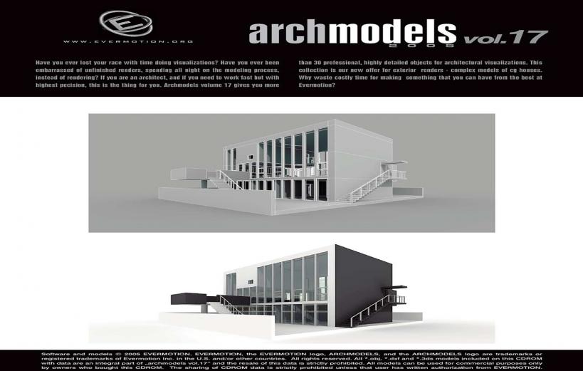 دانلود رایگان آرک مدل ولوم ARCHMODELS VOL.17