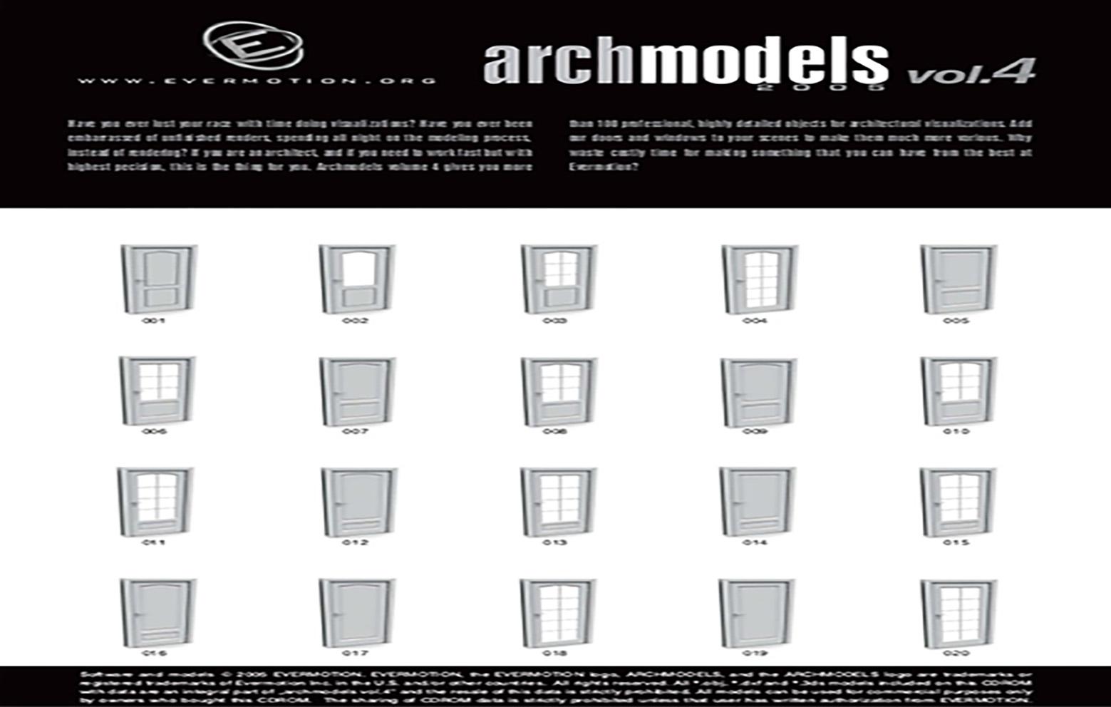 دانلود رایگان آرک مدل ولوم ARCHMODELS VOL.04