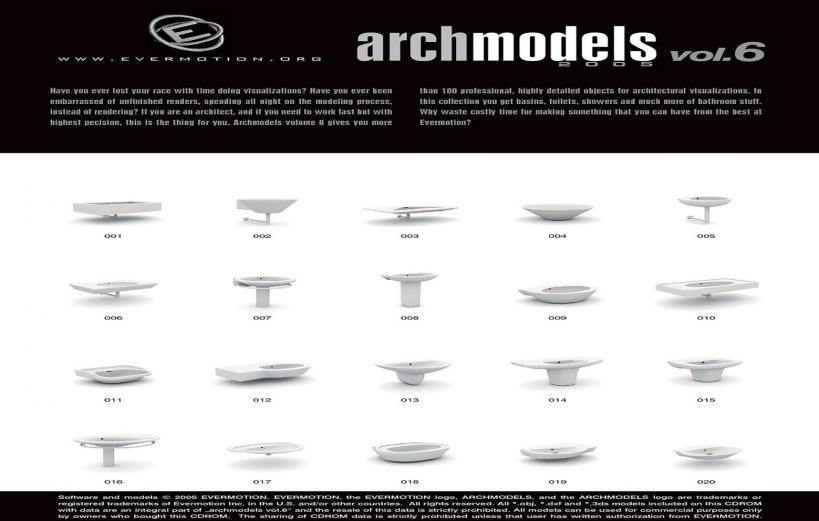 دانلود رایگان آرک مدل ولوم ARCHMODELS VOL.06