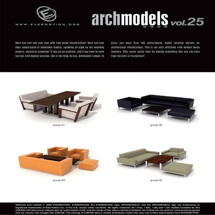 دانلود رایگان آرک مدل ولوم ARCHMODELS VOL.25