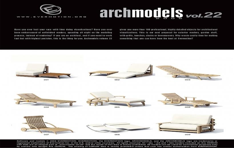 دانلود رایگان آرک مدل ولوم ARCHMODELS VOL.22