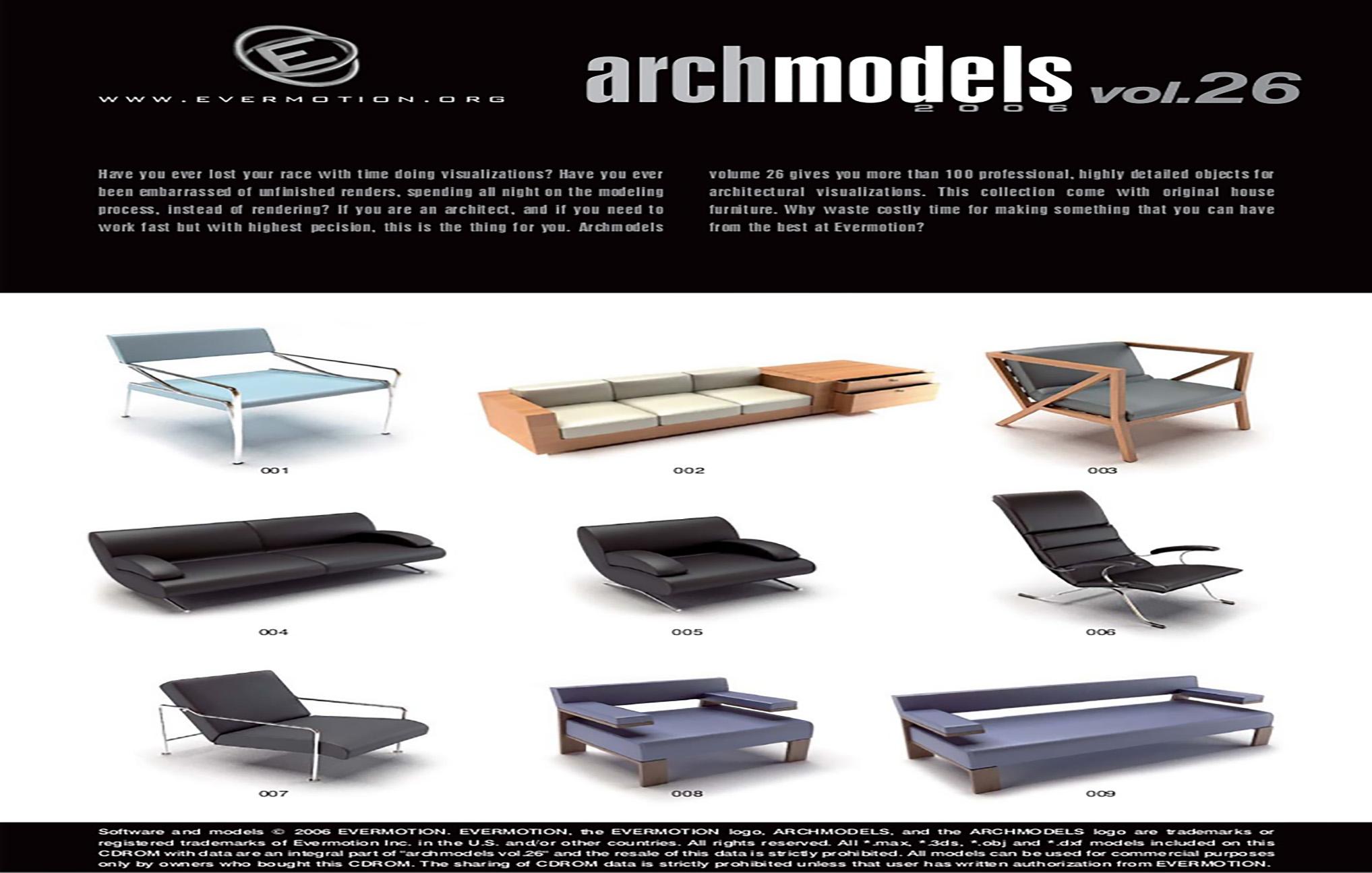 دانلود رایگان آرک مدل ولوم ARCHMODELS VOL.26