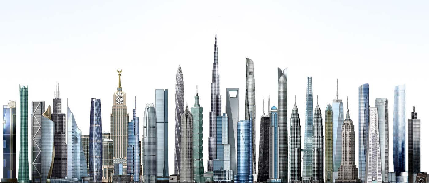 بلندترین ساختمان های دنیا
