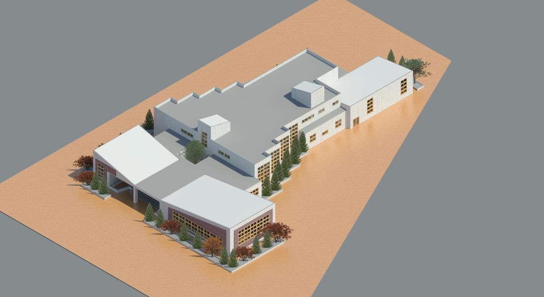 طرح ۲ معماری مدرسه