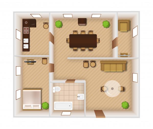 نقشه ساختمان دو خوابه ، نقشه ساختمان دو طبقه