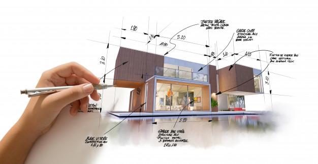 طراحی نما ساختمان ، نمای ساختمان مسکونی