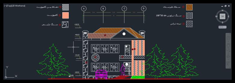 نقشه ساختمان دوبلکس با عرض 10 متر